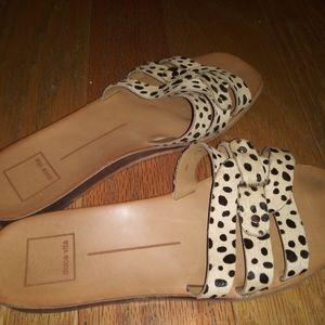 Dolce Vita Animal Print Flat Sandals Size 7